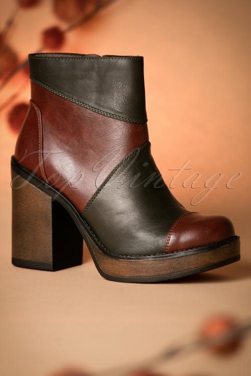 Tamaris Block Booties Olive 430 40 18796 08022016 013W