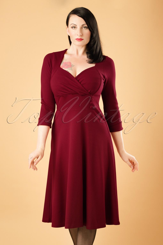 TopVintage Exclusive ~ 50s Isidora Milano Dress in Cherry ...