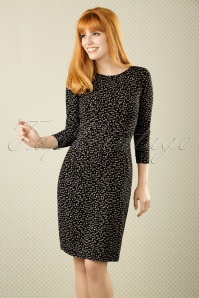 TopVintage Exclusive ~ 60s Mod Pins Pencil Dress in Black