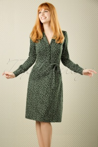 40s Bibi Pins Dress in Thyme Green