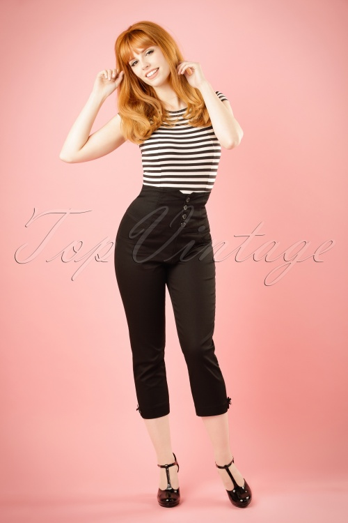 Steady Clothing High Waist Black Pants 134 10 19183 20160624 model01W