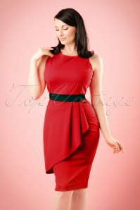 50s Vicky Pencil Dress in Red