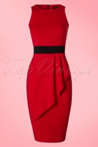 Vintage Chic Red and Black Classy Dress 100 20 19394 20160708 0005Wa