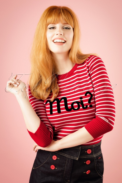 Mademoiselle Yeye Dawn Top in Red and White Stripes 113 27 18763 20160714 1W