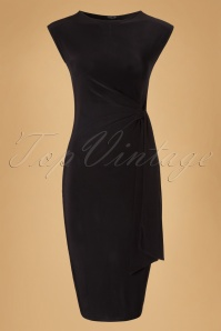 Vintage Chic Black Bow Pencil Summer Dress 100 10 19397 20160630 0006W