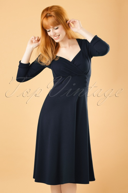 b4a585e9441f07 King Louie Isadora Dress Milano Crepe in Navy 19078 20160712 0004abW