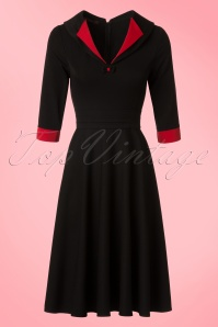 Hulahup TopVintage Exclusive Black Red Swing Dress 102 14 18623 20160719 0006Wa