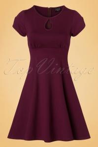 Steady Clothing Charm Me Keyhole Dress In Burgundy 102 20 18372 20160808 0003W