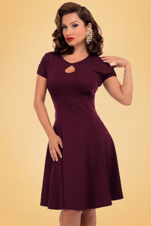 Steady Clothing Charm Me Keyhole Dress In Burgundy 102 20 18372 20160808 0015a