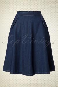 King Louie Delphi Skirt Chambray in Dutch Blue 19082 20160712 0004W