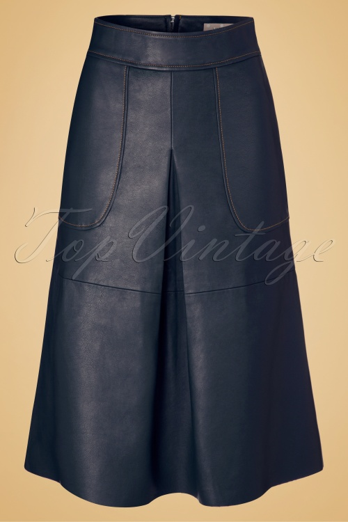 Traffic People Navy A Line Skirt 123 31 18616 20160810 0015W