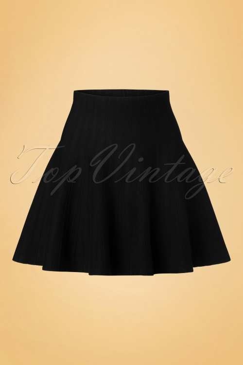 Derhy Elaboration Black Skirt 122 10 18500 20160810 0005W