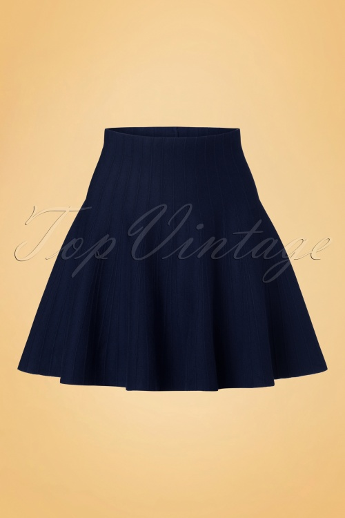 Derhy Elaboration Marine Blue Skirt 122 30 18502 20160810 0005W