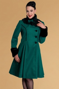 Bunny Angeline Coat Teal 152 30 13447 20140625 0010A