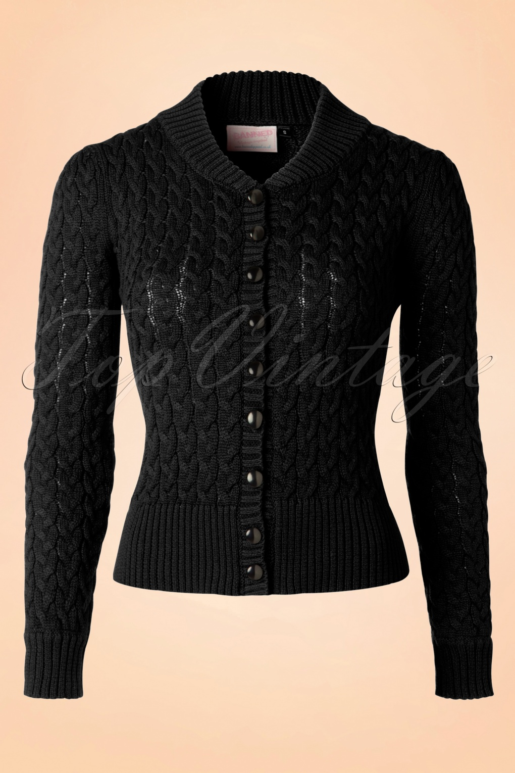 1950s Style Sweaters, Crop Cardigans, Twin Sets 50s No Doubt Cardigan in Black £34.24 AT vintagedancer.com