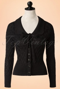 50s Crystal Air Cardigan in Black