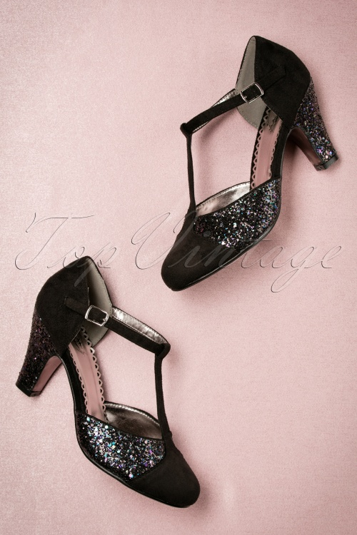 Dancing Days By Banned Black Glitter China Girl Pumps 401 10 19262 08112016 050W