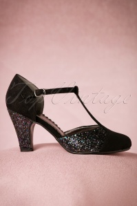 Dancing Days By Banned Black Glitter China Girl Pumps 401 10 19262 08112016 042W