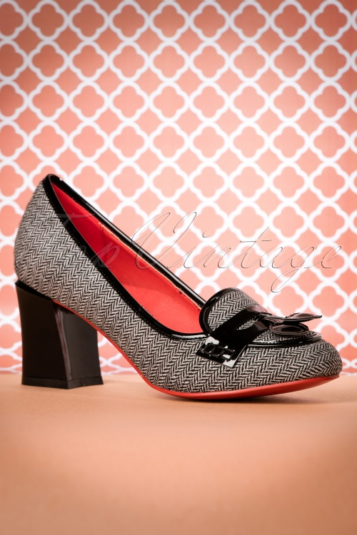Dancing Days By Banned Black Tweed Lust for Life Shoes 400 14 19265 08112016 016W