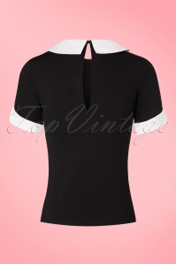 Banned Maureen Top in Black and White 113 10 17801 20160811 0008W