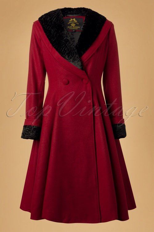 Bunny Vivien Coat in Burgundy Red 152 20 13452 20140625 0009W