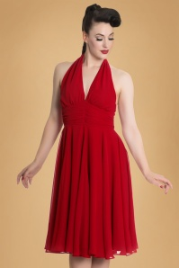 50s Monroe Dress in Lipstick Red