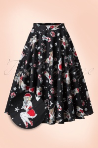 50s Blitzen Swing Skirt in Black