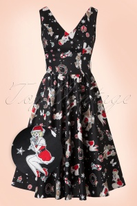50s Blitzen Swing Dress in Black