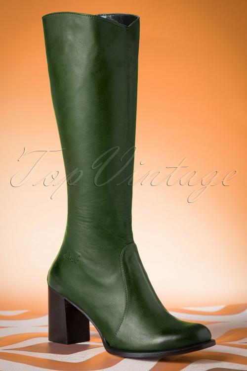 Lien & Giel San Diego Boots in Green 440 40 19152 01W
