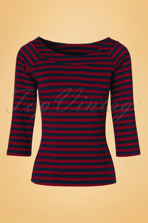 King louie Sarah Top Red and Blue Stripes 19046 20160818 0007W