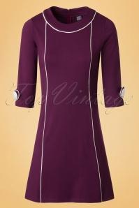 60s Amelie Dress in Purple
