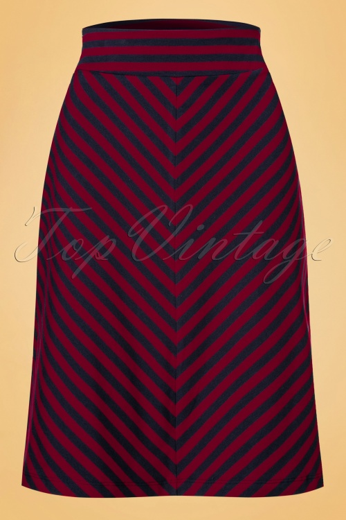 King Louie Midi Skirt Two tone cherry 19022 08182016 003W