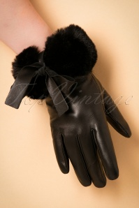 Amici Leather Bow Gloves 250 10 19375 08232016 012W