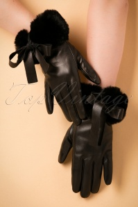 Amici Leather Bow Gloves 250 10 19375 08232016 006W