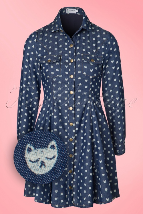 Minueto Cat Denim Dress 106 39 18837 20160823 0006W1