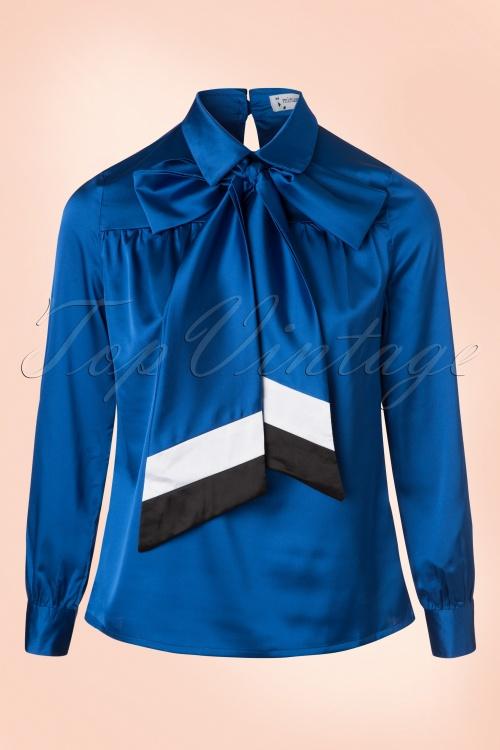 Minueto Hostess Blouse in Blue 112 30 18838 20160823 0006W