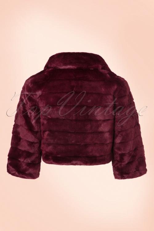 50s cartel coat in burgundy