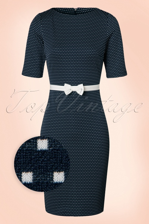 Paper Dolls Navy Cream Dress Polkadots 100 39 19404 20160823 0003WV