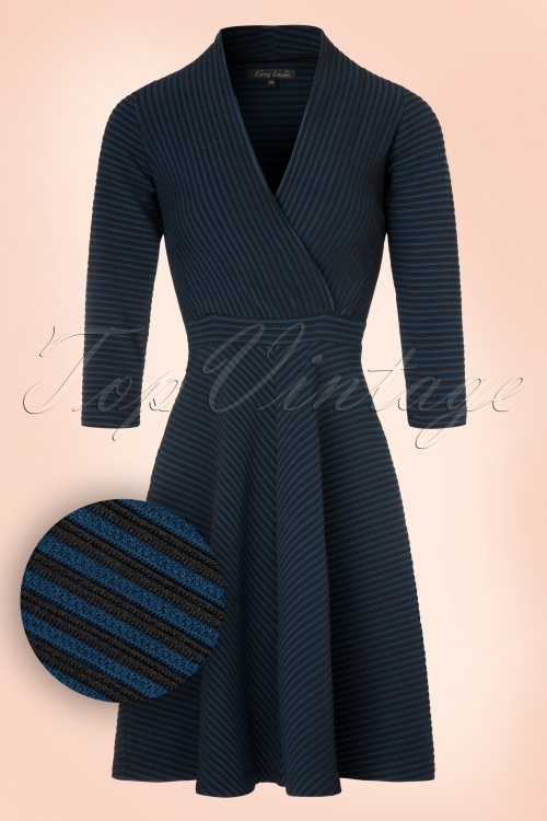 King Louie  Lake Dress in Blue and Black 102 14 19114 20160830 0006W1
