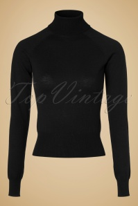 60s Vicky Cocoon Turtleneck in Black