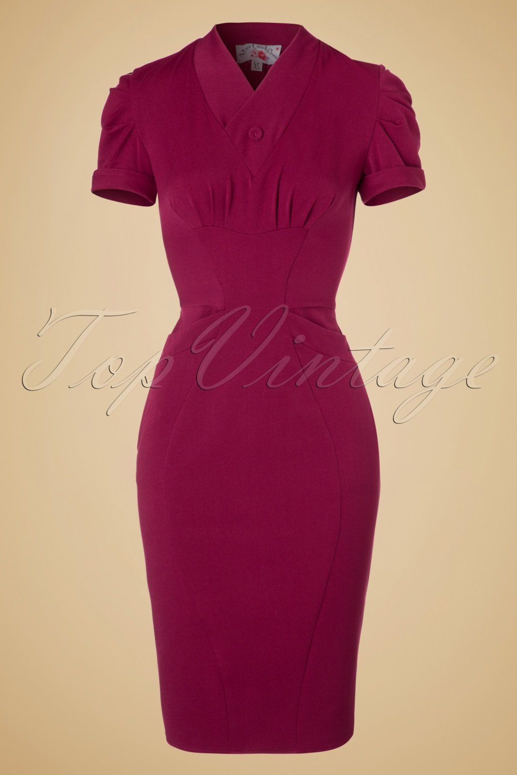 1940s Cocktail, Pin up and Bombshell Dresses Guide 40s Germaine Lee Pencil Dress in Raspberry £42.35 AT vintagedancer.com