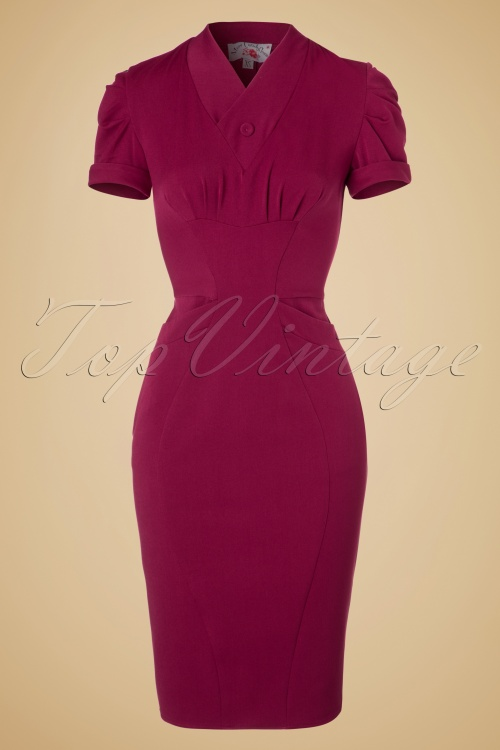 Miss Candyfloss Raspberry Pencil Dress 100 22 19336 20160830 0004W