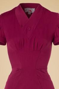 Miss Candyfloss Raspberry Pencil Dress 100 22 19336 20160830 0004V