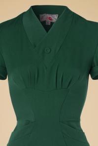 Miss Candyfloss Emerald Green Pencil Dress 100 22 19335 20160830 0004V