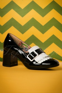 60s Stine Patent Leather Pumps in Black and White