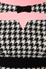 Miss Candyfloss Black and White Houndstooth Pencil Dress 100 14 16245 20160831 0009A