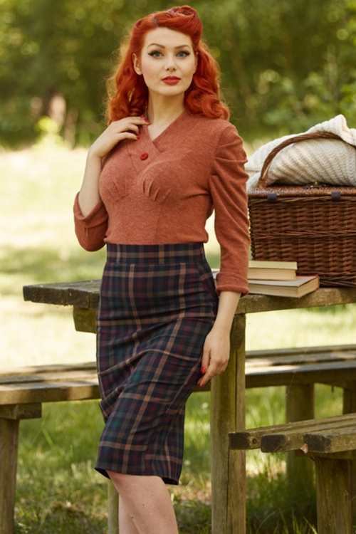 Miss Candyfloss Tartan Pencil Skirt 120 49 19355 20160830 0009