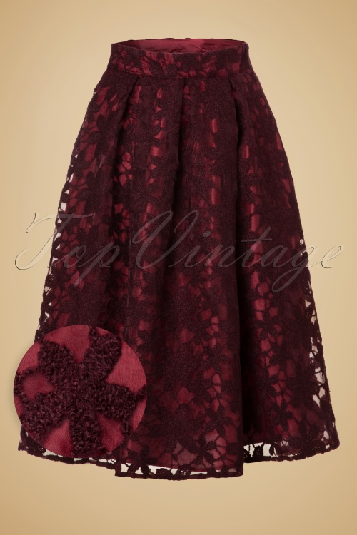 Miss Candyfloss Swing Skirt in Wine Red 122 20 19359 20160830 0005WV