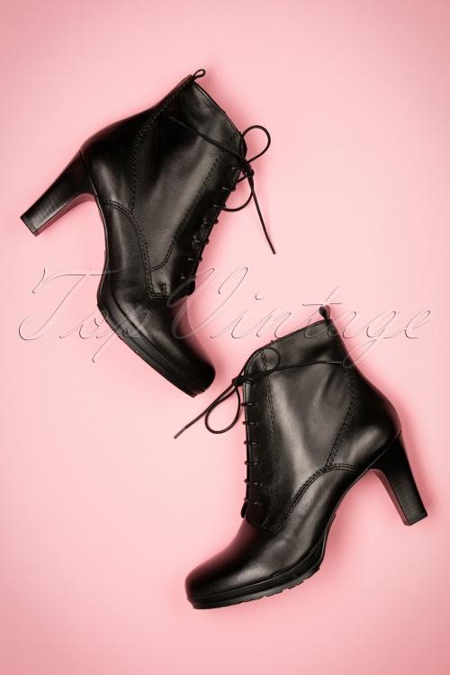 Tamaris Black Leather Boots 430 10 18795 08222016 025W