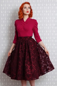 Miss Candyfloss Swing Skirt in Wine Red 122 20 19359 20160830 1